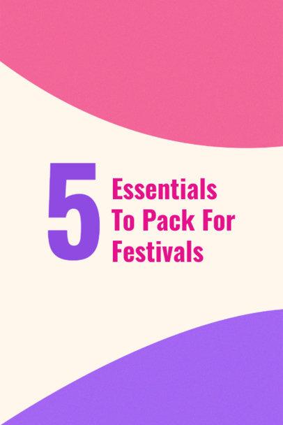 Festival Tips Pin Template for Pinterest 633e