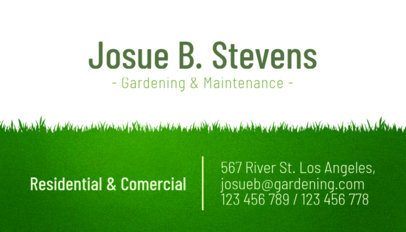 Business Card Template for a Gardening and Maintenance Landscaping Company 656e