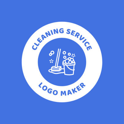 Janitor Online Logo Maker with Mop Graphics 1453b