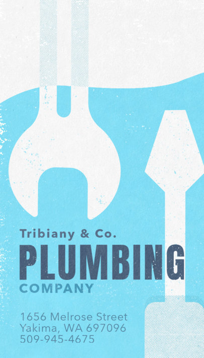 Vertical Business Card Maker for Plumbers 670
