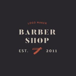 Barber Logo Maker with Clipper Graphics 1471e