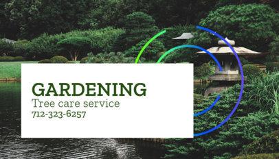 Tree Care Service Business Card Template 644b