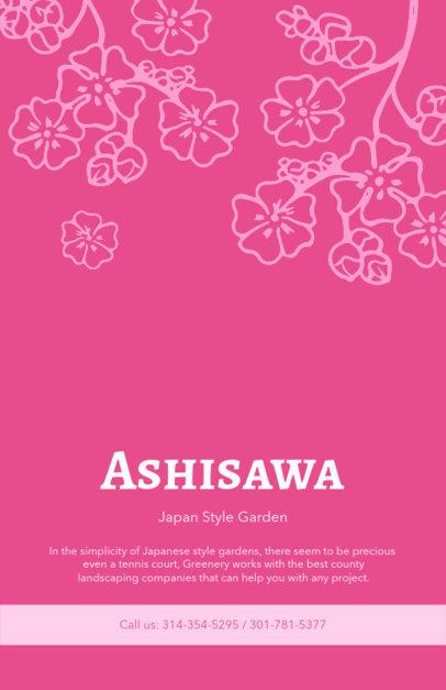 Landscape Flyer Template for Japan Style Garden 674a