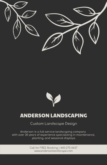 Online Flyer Maker for Landscaping Design 674e