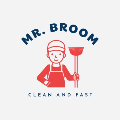 Efficient Cleaning Service Logo Template 1454a