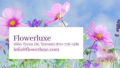 Landscaping Business Card Maker for a Flower Bed Specialist 644e