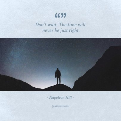 Insta Quote Post Template with Cool Tones 655a