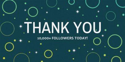 Followers Milestone Celebration Twitter Post Template 625c