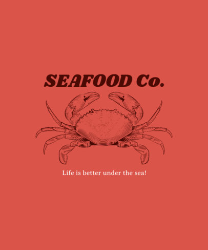 Shirt Template for Seafood Restaurants 481d