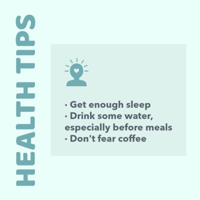 Health Tips Instagram Post Template 649b