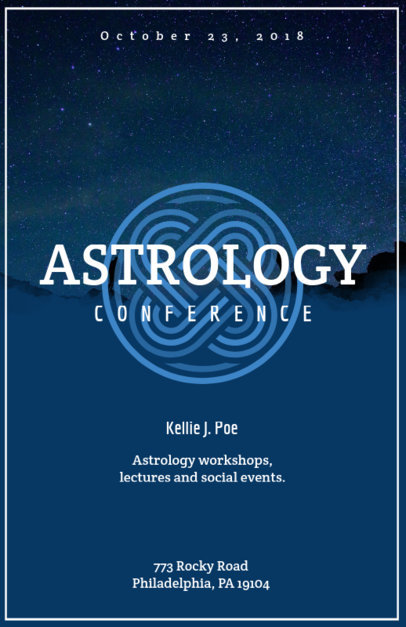 Flyer Template for Astrology Events with Nature Images 90b