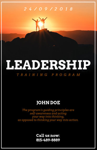 Flyer Template for Leader Conferences with Inspirational Images 90e