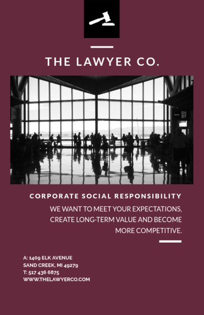 Online Flyer Maker for a Law Firm 701e