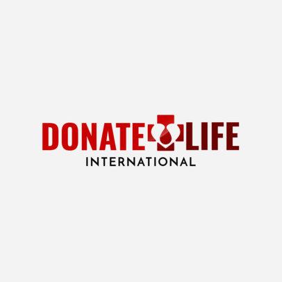 Blood Donation Logo Maker 1455b