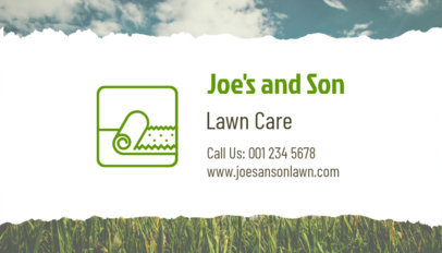 Lawn Care Professional Business Card Template 650d