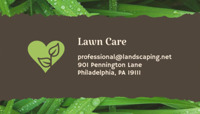 Business Card Maker for Lawn Care Experts 650e