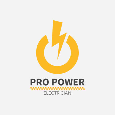 Logo Maker for an Electrician 1473b