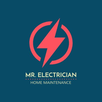 Electric Home Maintenance Logo Template 1473c