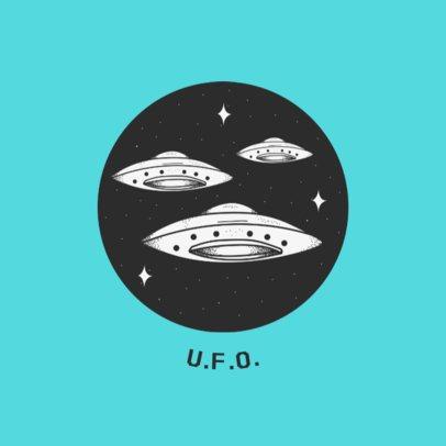 UFO Graphic Phone Grip Design Template 706b