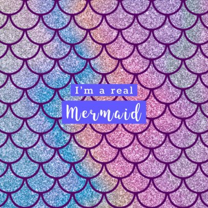Phone Grip Template with Mermaid Graphics 677
