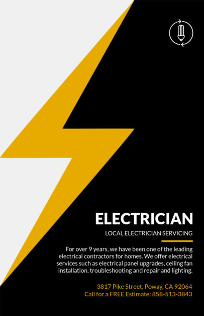 Local Electrician Flyer Design Template 721