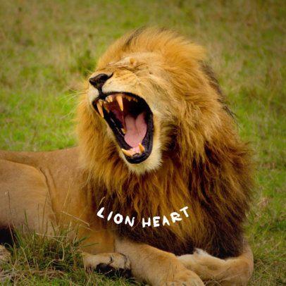 Lion Heart Phone Grip Template 682a