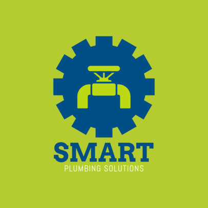 Smart Plumbing Solutions Logo Design Template 1440b