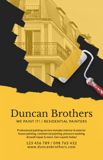 Residential Painters Online Flyer Template 712