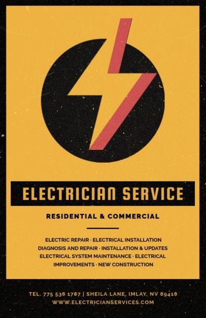 Electrician Service Flyer Design Template 711