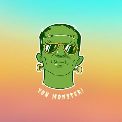 Chill Frankenstein Phone Grip Template 688a