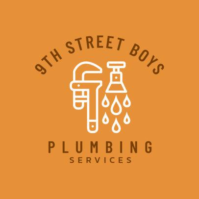 Residential Plumber Logo Generator 1501d