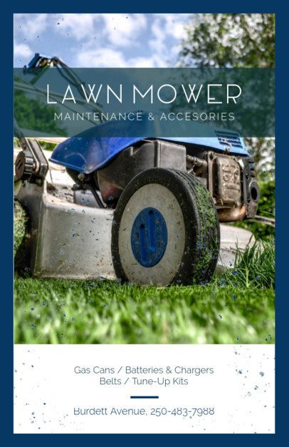 Mobile Lawn Mower Repair Flyer Maker 697b