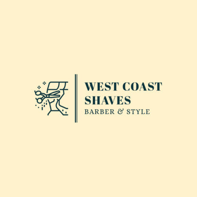 Logo Design Template for Cool Barbers 1467b