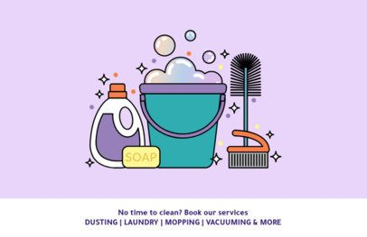 Cleaning Company Flyer Maker with Illustrated Graphics 693c