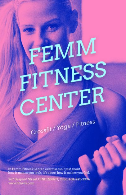 Female Fitness Flyer Template 703e