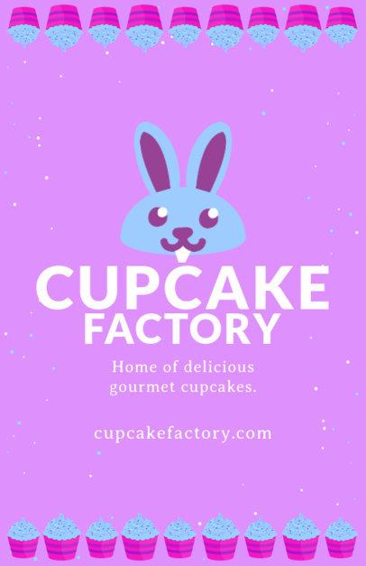 Cupcake Factory Flyer Design Template 496a