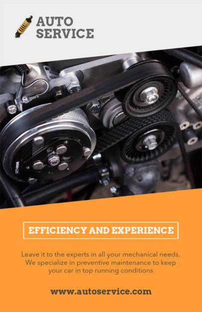 Auto Services Flyer Design Template 279a