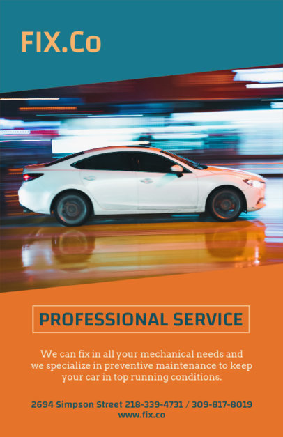 Professional Car Repair Flyer Maker 279b