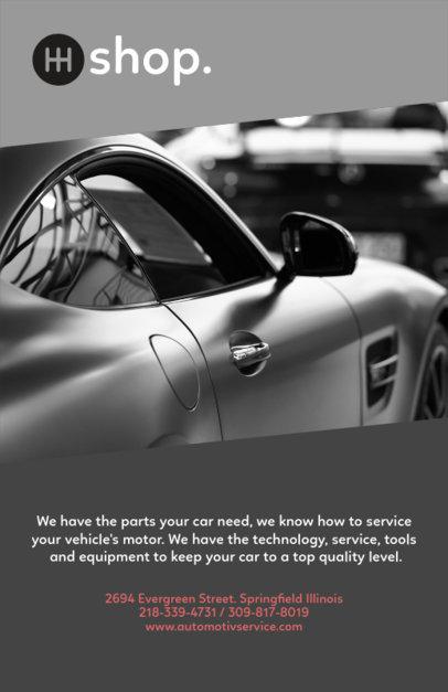 Flyer Design Template for Auto Shops 279e