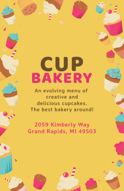 Cupcake Bakery Flyer Design Maker 496e