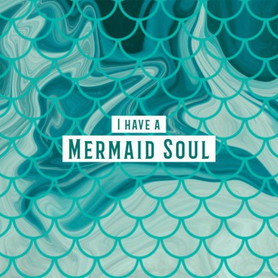 Phone Grip Template with Cute Mermaid Graphics 677d