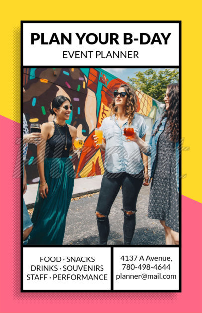 placeit event planner flyer maker with party graphics