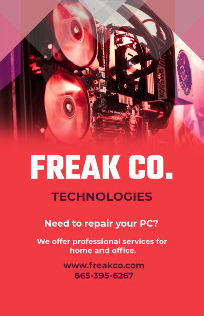 Technology Repair Online Flyer Maker 179a