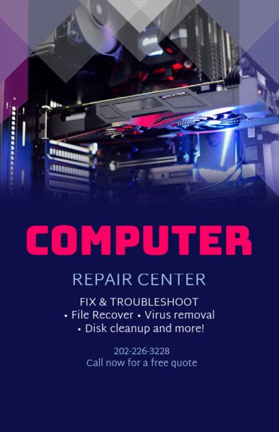 Online Flyer Maker for Computer Repair Businesses 179e