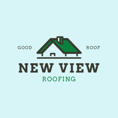 Home Roofing Services Logo Maker 1481b