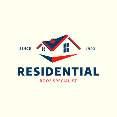 Residential Roofing Company Logo Template 1481e