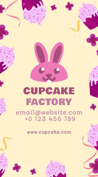 Cupcake Factory Vertical Business Card Maker 495a