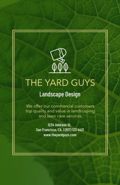 Landscape Design Flyer Maker 699b--1762
