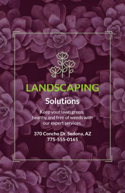 Landscaping Solutions Flyer Maker 699d--1762