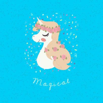 Magical Unicorn Phone Grip Template 736a